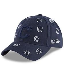 New Era Women's Cleveland Indians Logo Scatter Adjustable 9TWENTY Cap