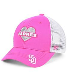 Girls' San Diego Padres Sweetheart Meshback MVP Cap
