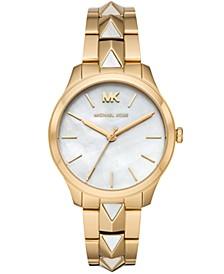 Women's Runway Mercer Gold-Tone Stainless Steel Bracelet Watch 38mm