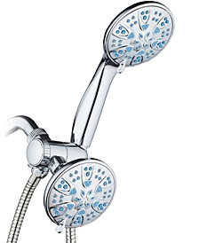 Antimicrobial 30-setting Shower Combo, Aqua Blue Jets