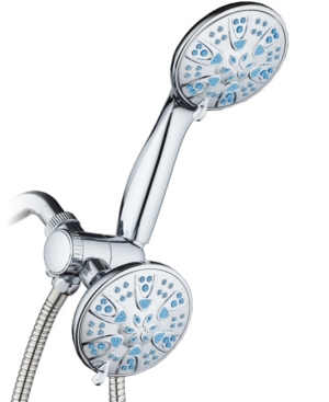 Antimicrobial 30-setting Shower Combo, Aqua Blue Jets Bedding