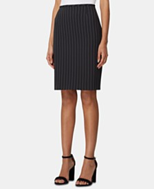 Tahari ASL Petite Striped Pencil Skirt