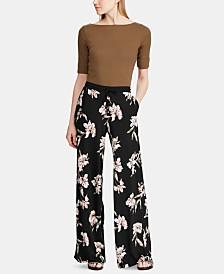 Lauren Ralph Lauren Floral-Print Wide-Leg Pants