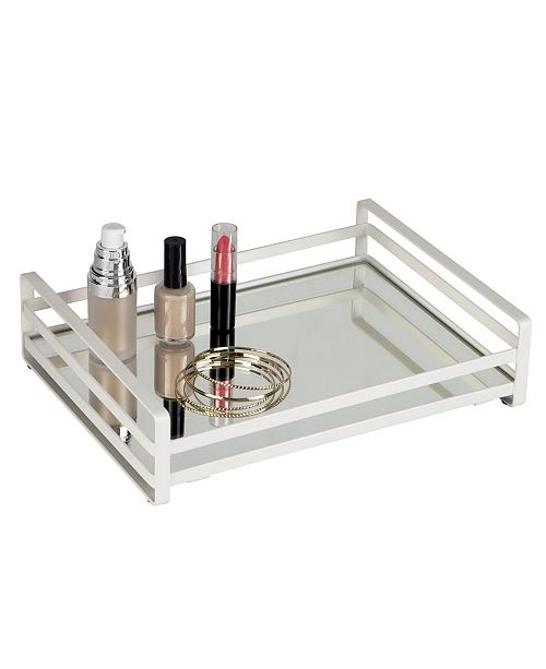 Home Details Flat Wired Rails Large Vanity Tray