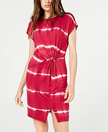 Juniors' Knot-Front T-Shirt Dress