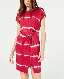 Ultra Flirt Juniors' Knot-Front T-Shirt Dress