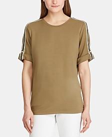 Lauren Ralph Lauren Track-Stripe T-Shirt
