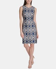 Tommy Hilfiger Printed Sheath Dress