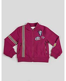 Boy's Zip-Up Jacket with Patchwork