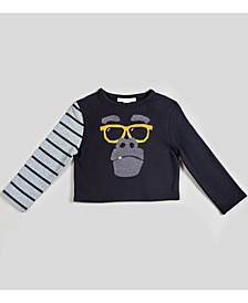 Toddler and Little Boys Striped Kool Long Sleeve Top