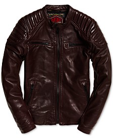 Superdry Men's New Hero Leather Jacket