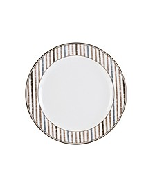 Fitz & Floyd  Farmstead Home Coupe Dinner Plate with Stripe