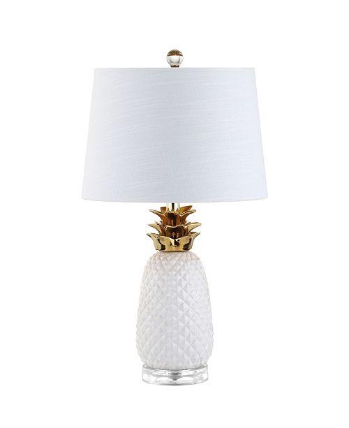 JONATHAN Y Pineapple Ceramic Led Table Lamp