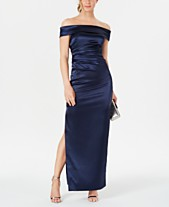35006fd1d307f Vince Camuto Off-Shoulder Ruched-Waist Gown