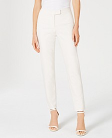 Faux-Pocket Mid-Rise Pants