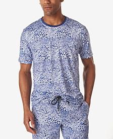 Men's Leopard Print Crew Neck T-Shirt