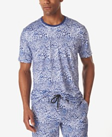 Tallia Men's Leopard Print Crew Neck T-Shirt