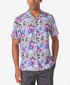 Men's Multi Floral Slim Fit Camp Shirt