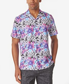 Tallia Men's Multi Floral Slim Fit Camp Shirt
