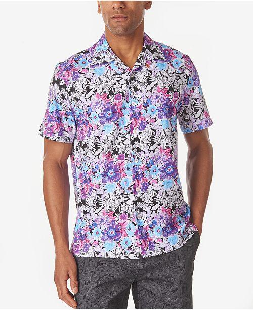 Tallia Men's Multi Floral Slim Fit Camp Shirt