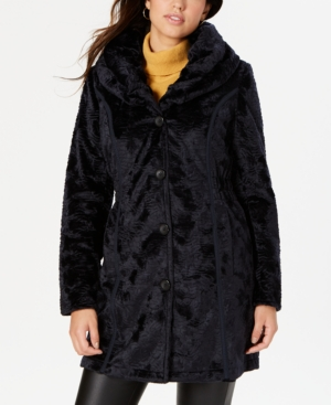 Laundry By Shelli Segal LAUNDRY BY SHELLI SEGAL REVERSIBLE FAUX-FUR COAT