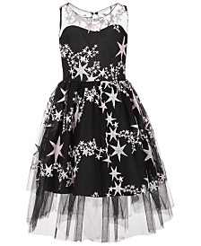 Bonnie Jean Big Girls Embroidered Stars Dress
