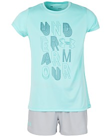 Under Armour Big Girls Graphic T-Shirt & Play-Up Shorts Separates