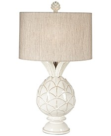 White Pineapple Ceramic Table Lamp