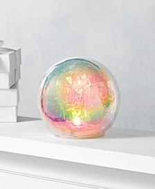 "Dreamland 5.9"" Glass Iridescent Ball with LED Light, Created for Macy's"