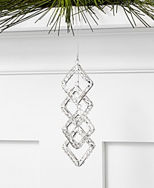 Holiday Lane Crystal Diamond Shape Hanging Beaded Ornament, Created for Macy's