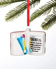 Holiday Lane All About You Teacher Book Ornament, Created for Macy's