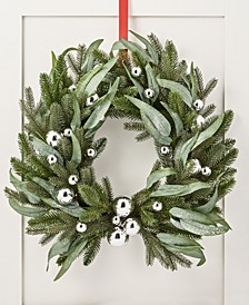 Silver Woods Artificial Christmas Wreath with Silver Ornaments, Created for Macy's