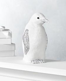 Holiday Lane Shine Bright Large Glitter Penguin, Created for Macy's