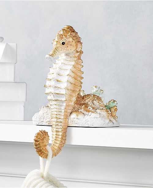 Holiday Lane Seaside Seahorse Stocking Holder, Created for Macy's