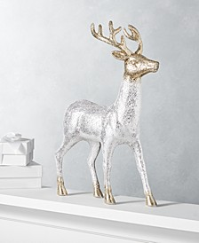 Shine Bright Silver and Gold Glitter Reindeer, Created for Macy's