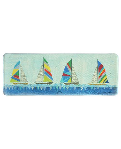 "Bacova Rainbow Sailboats 20""x55"" Memory Foam Runner"