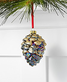 Midnight Blue Glass Blue Pinecone Ornament, Created for Macy's