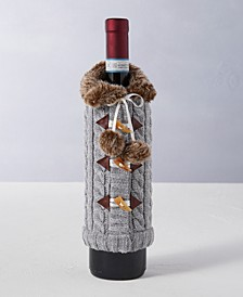 The Holiday Collection Gray Wine Bottle Sleeve, Created for Macy's