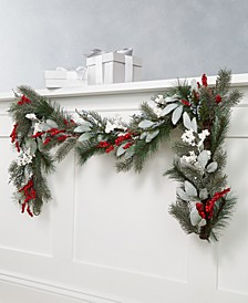 Farmhouse Holidays Red, White & Blue Berry Artificial Garland, Created for Macy's