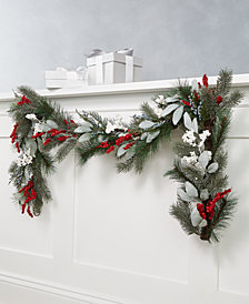 Martha Stewart Collection Farmhouse Holidays Red, White & Blue Berry Artificial Garland, Created for Macy's