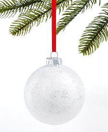 Holiday Lane Upstate Silver Ball Ornament, Created for Macy's