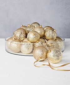 Midnight Blue Set of 32 Gold and Silver Shatterproof Ornaments, Created for Macys