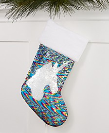 Multicolored Sequin Unicorn Stocking, Created for Macy's