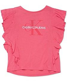 Big Girls Logo-Print Flutter T-Shirt
