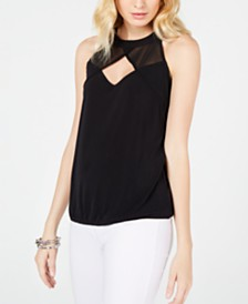 I.N.C. Illusion Keyhole Top, Created for Macy's