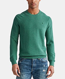 Men's Cotton Textured Crewneck Sweater