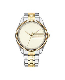 Tommy Hilfiger Womens Two-Tone Stainless Steel Bracelet Watch 38mm , Created for Macys