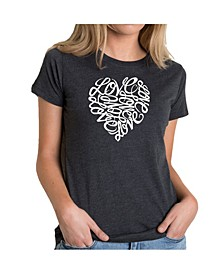 Women's Premium Word Art T-Shirt - Love