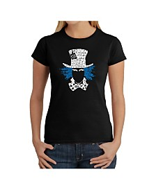 Women's Word Art T-Shirt - The Mad Hatter