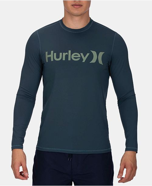 d778c3f434 Hurley Men's Logo Long-Sleeve Swim Shirt & Reviews - Swimwear - Men ...